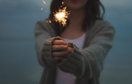 Girl Playing Fireworks